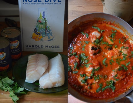 Rachel Roddy's recipe for cod with tomatoes and capers